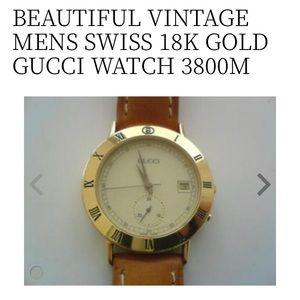 Gucci 18K Gold Plated Wrist Watch 3800M